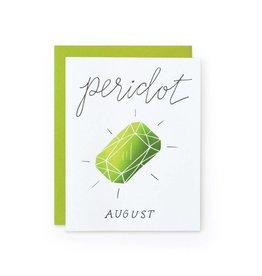 Wild Ink Press Peridot Gemstone Birthday Notecard A2