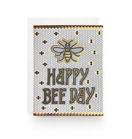 Wild Ink Press Bee Day Tile Birthday Notecard A2