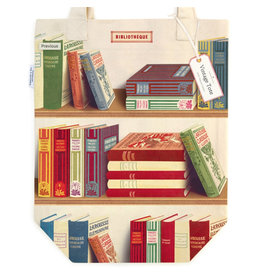 Cavallini Papers & Co. Library Books Tote Bag