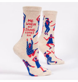 Blue Q Me When My Song Comes On Women's Crew Socks