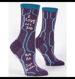 Blue Q I Love My Job, Ha Ha, Just Kidding Women's Crew Socks