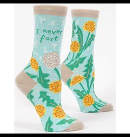 Blue Q I Never Fart Women's Crew Socks