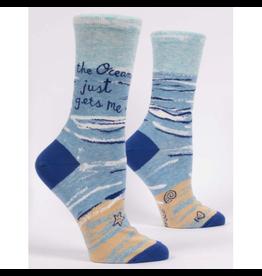 Blue Q The Ocean Just Gets Me Women's Crew Socks