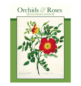 Pomegranate Orchids & Roses Coloring Book