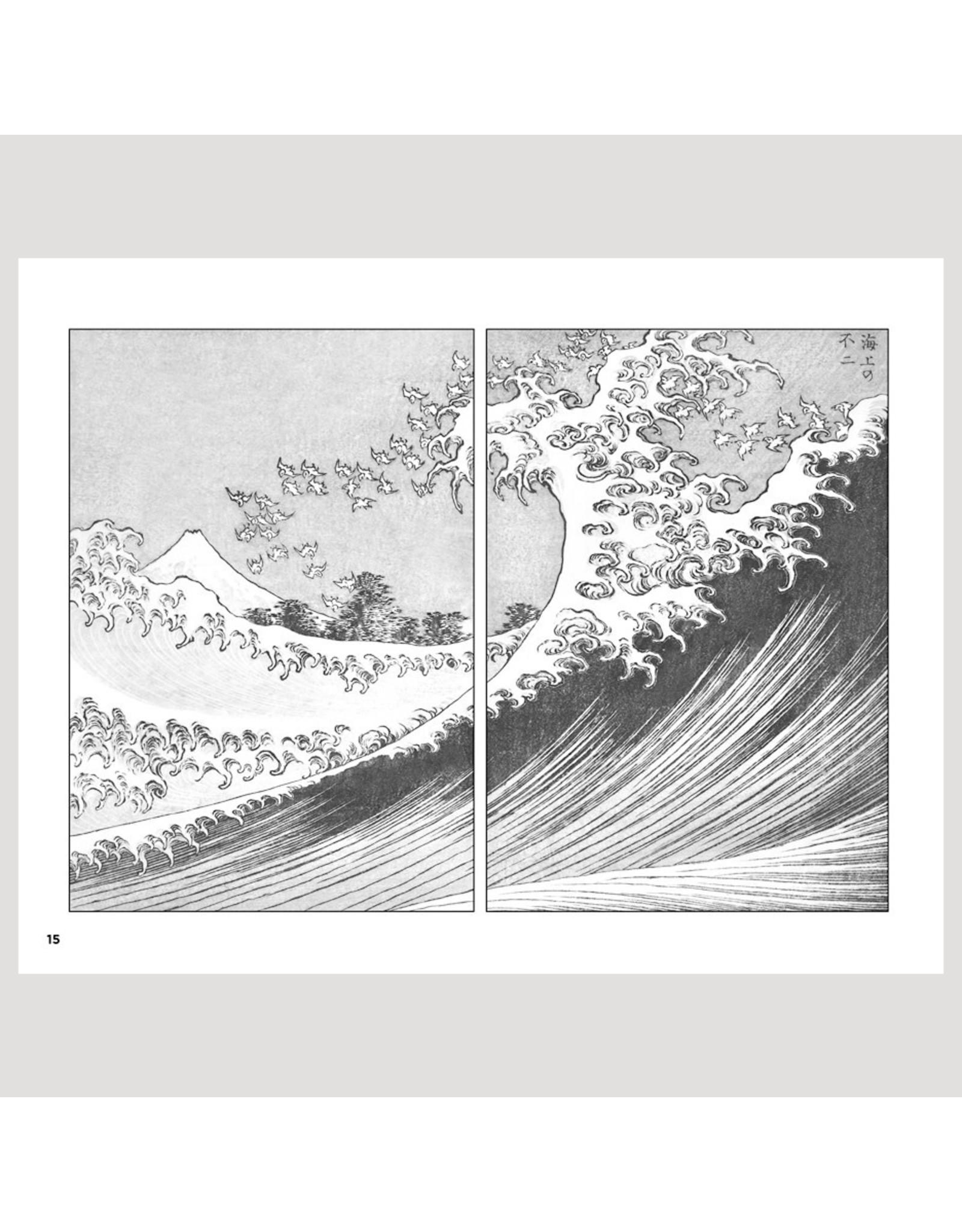 Pomegranate Hokusai: One Hundred Views of Mt. Fuji Coloring Book