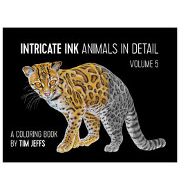 Pomegranate Intricate Ink: Animals in Detail Volume 5 Coloring Book