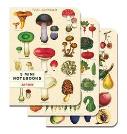 Cavallini Papers & Co. Le Jardin 3 Mini Notebooks
