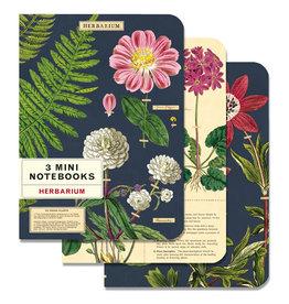 Cavallini Papers & Co. Herbarium 3 Mini Notebooks