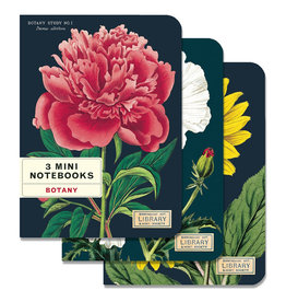 Cavallini Papers & Co. Botany 3 Mini Notebooks