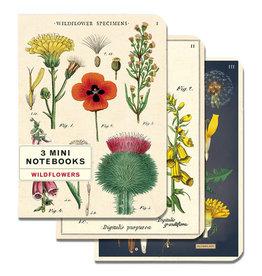 Cavallini Papers & Co. Wildflowers 3 Mini Notebooks