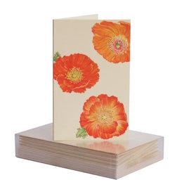 Paula Skene Designs Poppy Pattern Mini Notes 4Bar Box of 8
