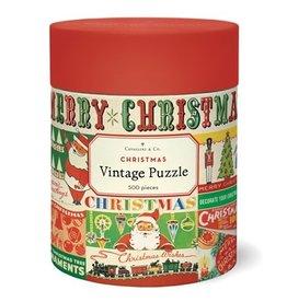 Cavallini Papers & Co. Vintage Christmas 500 Piece Puzzle