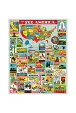 Cavallini Papers & Co. Cavallini Puzzle See America 1,000 Pcs