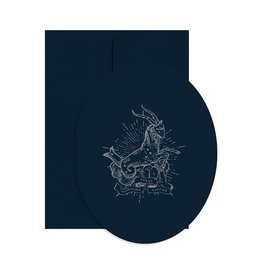 Open Sea Design Co. Capricorn Oval A2 Birthday Notecard