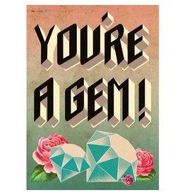 Cartolina You're a Gem! A7 Thank You Notecard