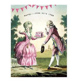 Cartolina Party... Like it's 1799 A2 Birthday Notecard