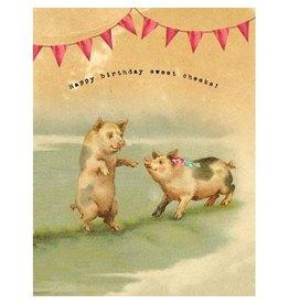 Cartolina Sweet Cheeks A2 Birthday Notecard