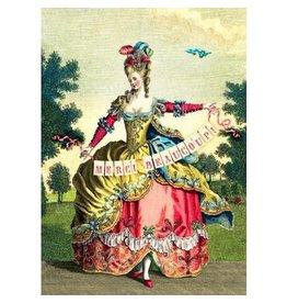 Cartolina Merci Beaucoup! Fancy Lady A7 Thank You Notecard