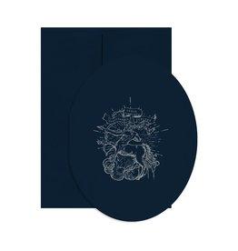 Open Sea Design Co. Sagittarius A2 Oval Birthday Notecard