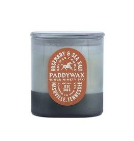 Paddywax Rosemary & Sea Salt Vista 12oz Denim-Blue Glass Candle