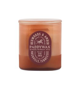 Paddywax Redwoods & Amber Vista 12oz Rusty-Pink Glass Candle