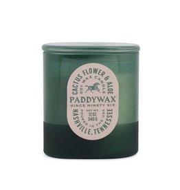 Paddywax Cactus Flower & Aloe Vista 12oz Cactus-Green Glass Candle