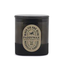 Paddywax Black Fig & Olive Vista 12oz Black Glass Candle