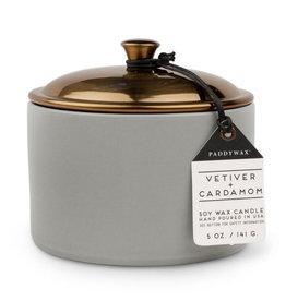 Paddywax Vetiver + Cardamom Hygge 5oz Grey Ceramic Candle