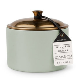 Paddywax Wild Fig + Cedar Hygge 5oz Sage Ceramic Candle