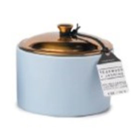 Paddywax Teakwood + Jasmine Hygge 5oz Icy Blue Ceramic Candle