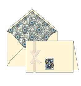 Rossi S Initial Cards Box of 10 with Lined Envelopes