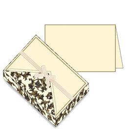 Rossi Notecard Box Traditional Florentine Black