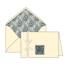 Rossi A Initial Cards Box of 10 with Lined Envelopes