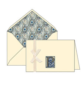 Rossi P Initial Cards Box of 10 with Lined Envelopes