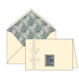 Rossi E Initial Cards Box of 10 with Lined Envelopes