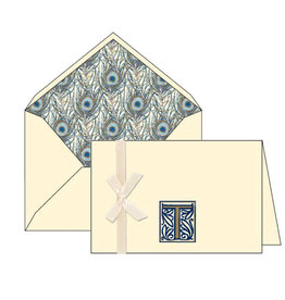 Rossi T Initial Cards Box of 10 with Lined Envelopes
