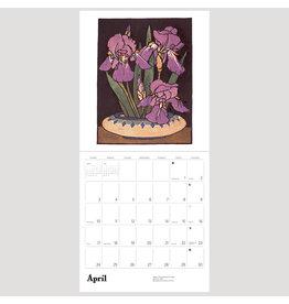 Pomegranate Arts & Crafts Block Prints of William S. Rice 2022 Wall Calendar
