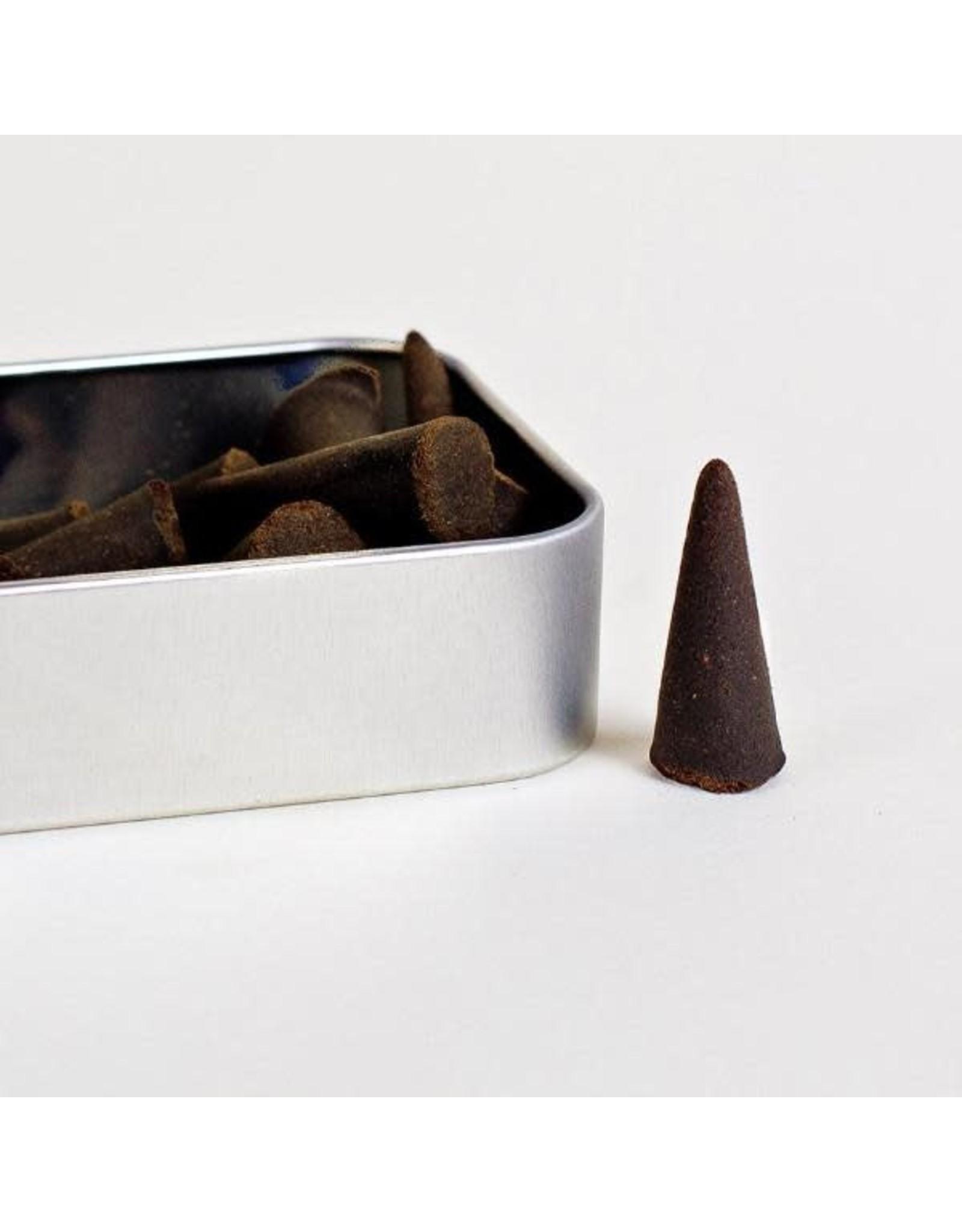 Good & Well Supply Co. Theodore Roosevelt Cone Incense - Tobacco Leaf, Cedar + Honey