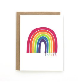 Public School Paper Co. Rainbow Thank You Notecard A2
