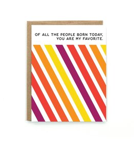 Public School Paper Co. Born Today Birthday Notecard A2