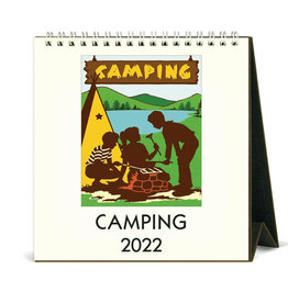 Cavallini Papers & Co. 2022 Desk Calendar Camping