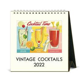 Cavallini Papers & Co. 2022 Desk Calendar Cocktails