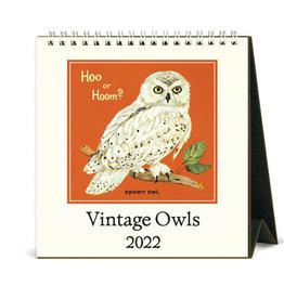 Cavallini Papers & Co. 2022 Desk Calendar Owls