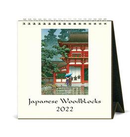 Cavallini Papers & Co. 2022 Desk Calendar Japanese Woodblock