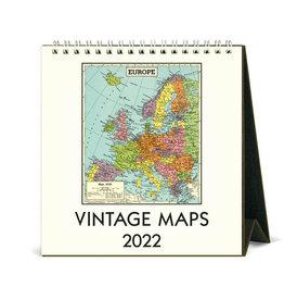 Cavallini Papers & Co. 2022 Desk Calendar Maps