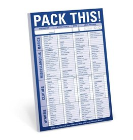Knock Knock Pack This! List Pad
