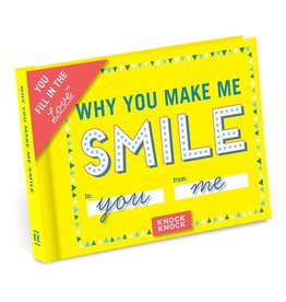 Knock Knock Why You Make Me Smile Fill in the Love Gift Book