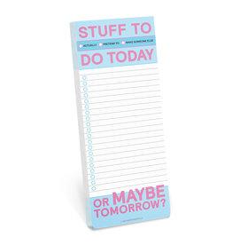 Knock Knock Stuff to Do Today Make-a-List Pad