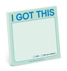 Knock Knock You Got This Sticky Note (Pastel Version)