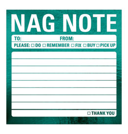 Knock Knock Nag Note Metallic Sticky Notes